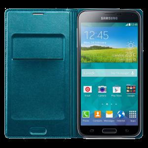official-samsung-galaxy-s5-flip-wallet-cover-blue-topaz-p44020-a
